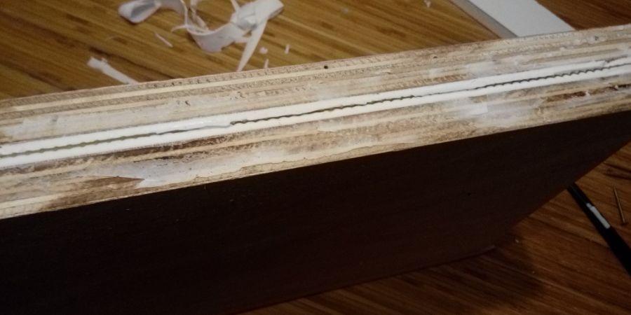 La feuille de cire entre les 2 couches de silicone