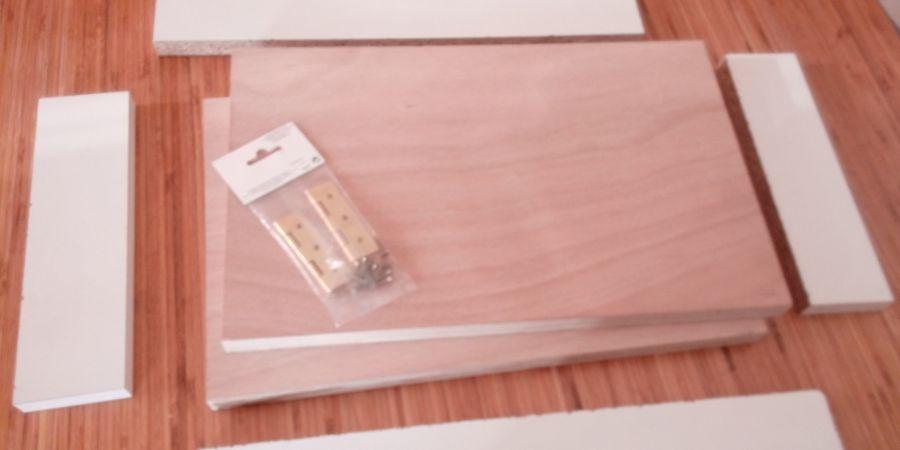 Matériaux nécessaires à la fabrication du gaufrier
